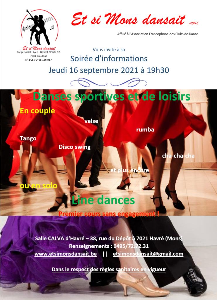 Et si Mons dansait - Club danse Mons - soirée information, portes ouvertes